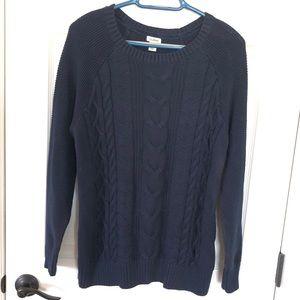 L.L.Bean Navy cable knit sweater sz. L